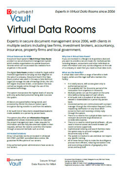 virtual data room datasheet